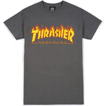 Thrasher Flame Logo Tee (Charcoal)
