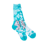 RIPNDIP Lord Nermal socks in (Blue Tie Dye)