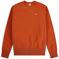 Champion Reverse Weave Sweatshirt - Small Left Chest C (Burnt Orange)