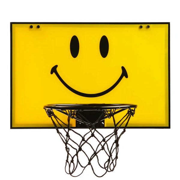 Chinatown Market Mini Smiley Basketball + Hoop Set