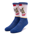 HUF Brown Bag Sock (Blue)