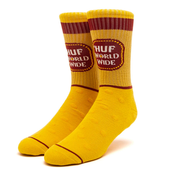 HUF Brown Bag Sock (Yellow)