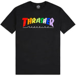 Thrasher rainbow Mag Tee (Black)