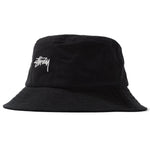 Stussy Stock Canvas Bucket Hat (Black)
