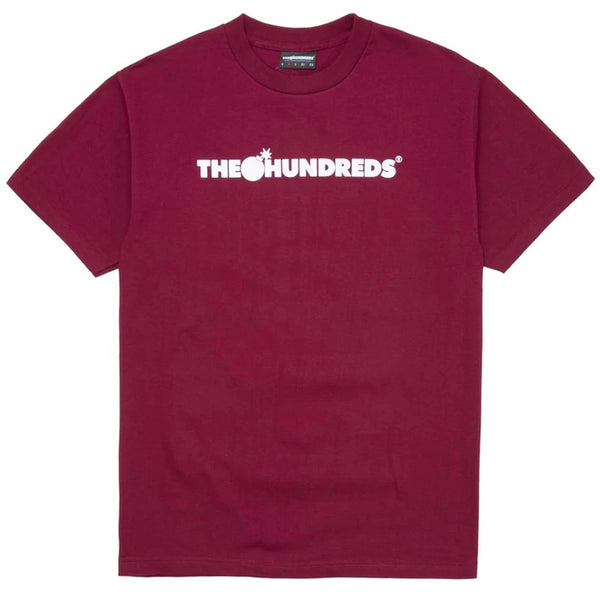 The Hundreds Forever Bar Logo Tee (Burgundy)