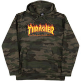 Thrasher Flames Hoodie (Forest Camo)