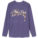 Stussy Camo Stock Pocket LS Tee (Purple)