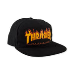Thrasher Flame Snapback (Black)