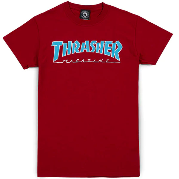 Thrasher Outlined Tee (Cardinal)