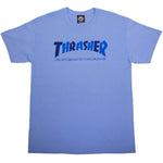 Thrasher Checkers Tee (Carolina Blue)