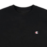 Champion Reverse Weave Sweatshirt - Small Left Chest C (Black)