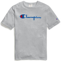Champion Life® Heritage Tee, Flock 90s Logo (Oxford Grey)