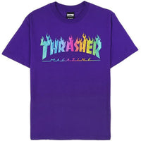 Thrasher Flame Hologram Tee (Purple)
