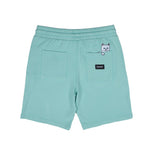 RIPNDIP Peek A Nermal Over Dye Sweat Shorts (Mint)