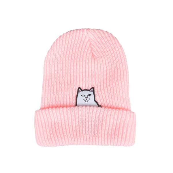 Lord Nermal Ribbed Beanie (Pink)