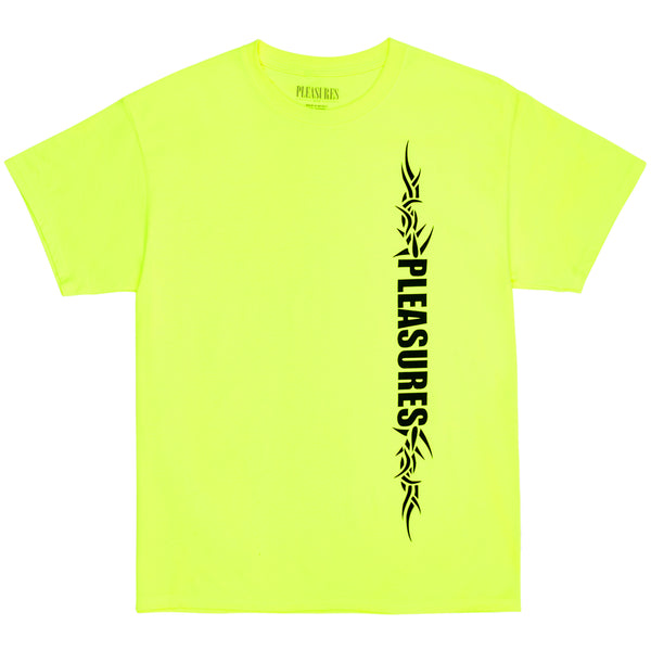 PLEASURES Razor Tee (Safety Green)