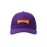 Thrasher Micro Flame Dad Hat (Purple)