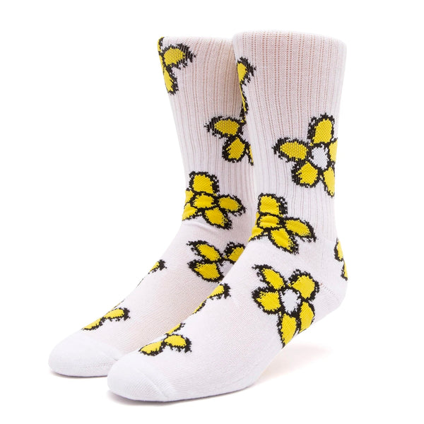 HUF Pushing Daisies Sock (White)