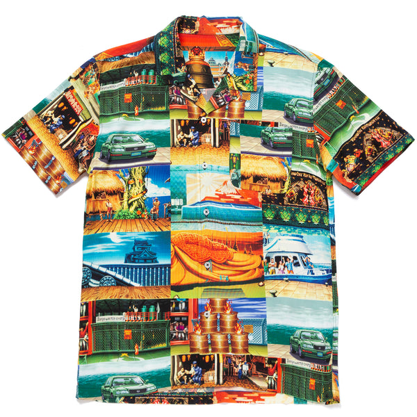 HUF X Street Fighter Stages Resort Shirt