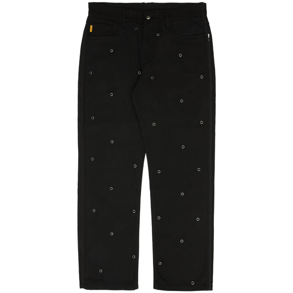 PLEASURES Village Rivet Denim Pants (Black)