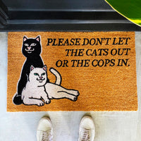 RIPNDIP Don't Let The Cops In Door Mat (Brown)
