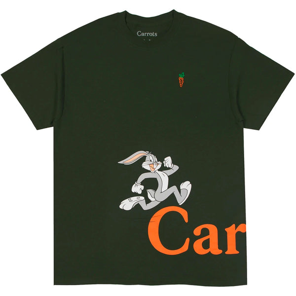 Carrots X Looney Tunes Run Tee (Forest Green)