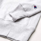 Champion Reverse Weave Crew - Old English Lettering (Silver Grey)