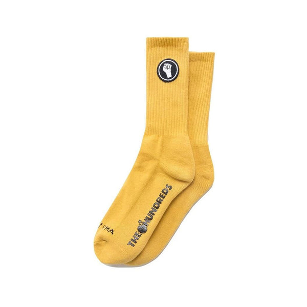 The Hundreds Unity Crew Socks (Mustard Yellow)