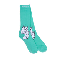 RIPNDIP Lord Nermal Socks (Mint)