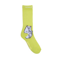 RIPNDIP Lord Nermal Socks (Safety Green)