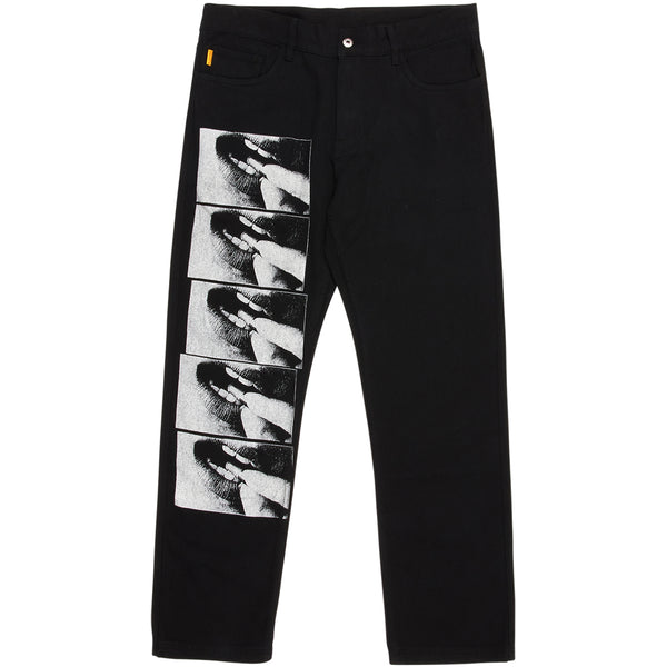 PLEASURES Swallow Denim Jeans (Black)