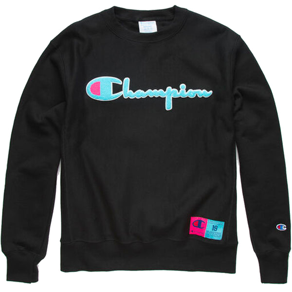 Champion Reverse Weave Crew (Black)