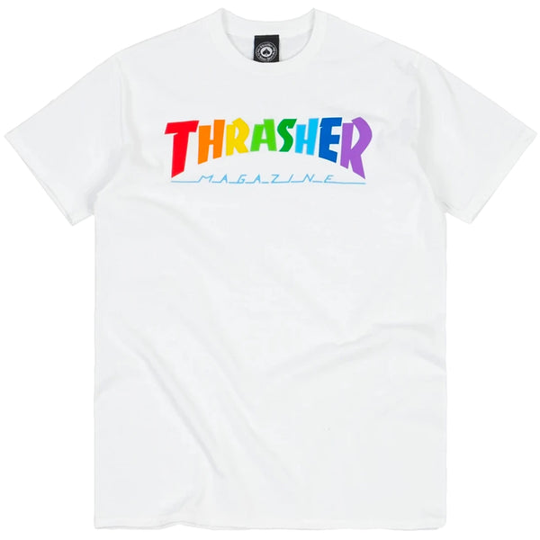 Thrasher Rainbow Mag Tee (White)
