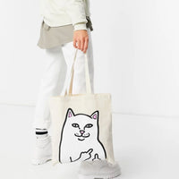 OG Lord Nermal Tote Bag (Natural Canvas)