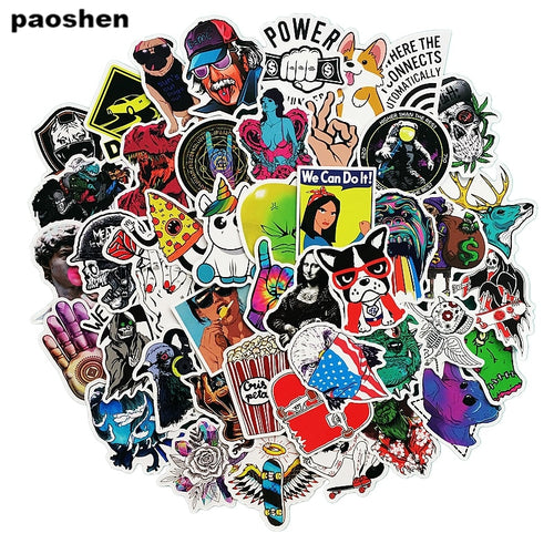 50 pcs/pack Fashion Style Graffiti Stickers