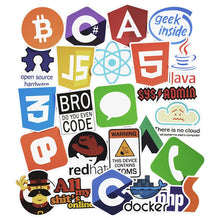 Load image into Gallery viewer, 50 Pcs  Programming Language Stickers