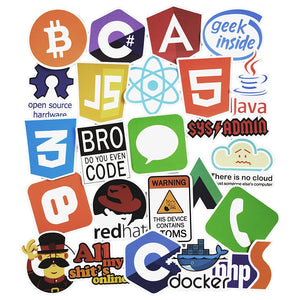 50 Pcs  Programming Language Stickers