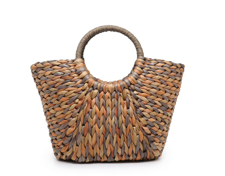 Natural Corn Husk Satchel