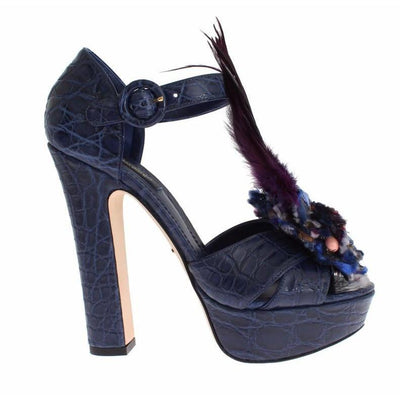 Dolce & Gabbana - Blue Caiman Leather Shoes | Londress