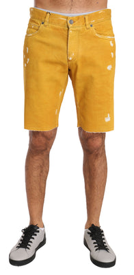 Dolce & Gabbana - Gold Denim Cotton Above Knees Yellow, Londress