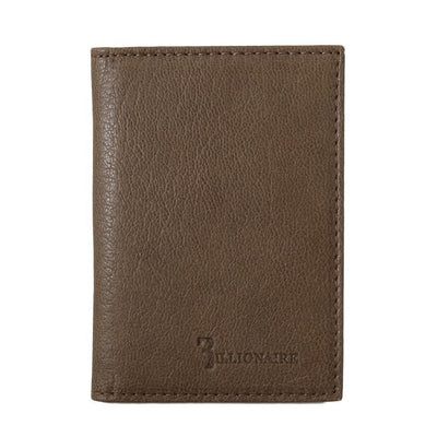 Billionaire Italian Couture - Brown Leather Bifold Wallet | Londress
