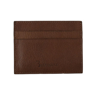 Billionaire Italian Couture - Brown Leather Cardholder Wallet | Londress