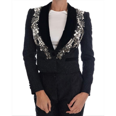 Dolce & Gabbana - Black Crystal Embellished Blazer, Londress
