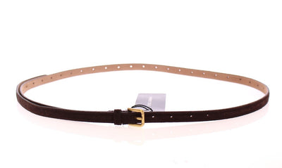 Dolce & Gabbana - Brown Suede Leather Logo Belt, Londress