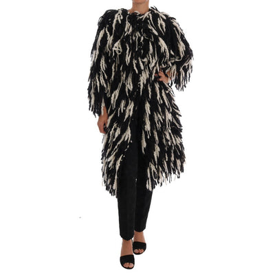 Dolce & Gabbana - Fringe Shaggy Wool-Blend Coat | Londress