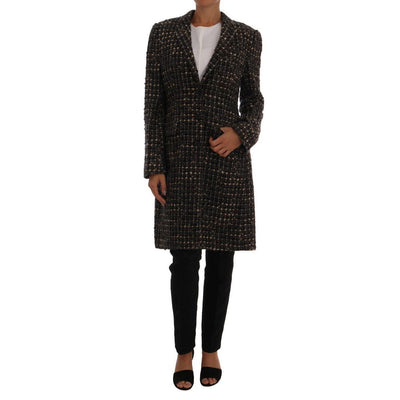 Dolce & Gabbana - Brown Tweed Coat | Londress