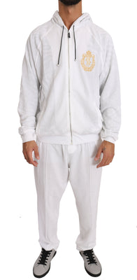 White Cotton Sweater Pants Tracksuit, Londress