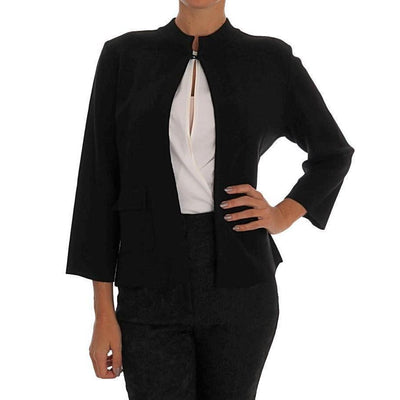 Dolce & Gabbana - Black Wool Cape Jacket | Londress