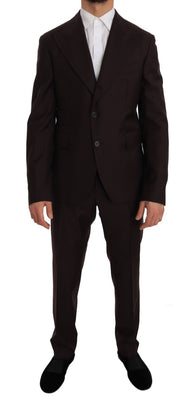 Dolce & Gabbana - Bordeaux Wool Two Button Slim Fit Suit