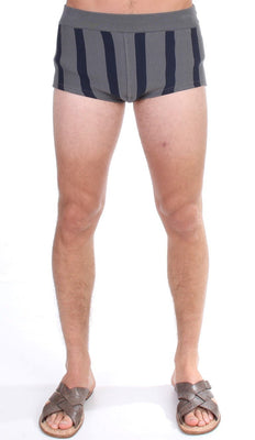 Dolce & Gabbana - Gray Cotten Blend Logo Casual Short Shorts, Londress